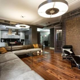 гостиная в стиле лофт виды дизайна