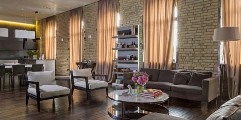 гостиная в стиле лофт фото интерьер