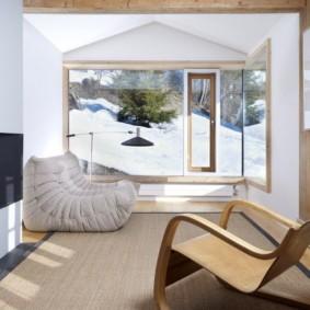 гостиная в стиле шале фото декор
