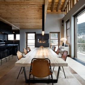 гостиная в стиле шале виды дизайна