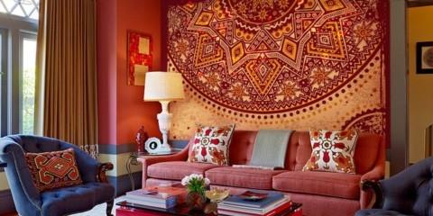 цветовое оформление комнаты в восточном стиле