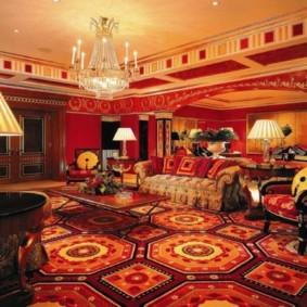 гостиная в восточном стиле декор