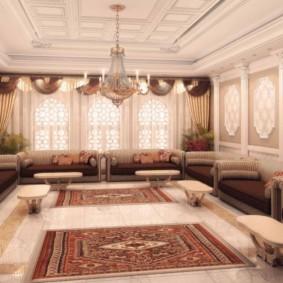 гостиная в восточном стиле декор фото