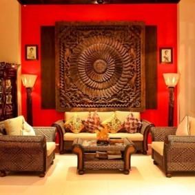 гостиная в восточном стиле идеи дизайна