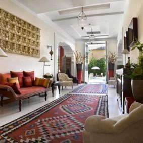гостиная в восточном стиле фото декор