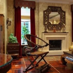 гостиная в восточном стиле фото декора