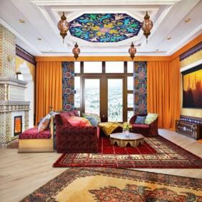 гостиная в восточном стиле декор идеи