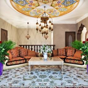 гостиная в восточном стиле идеи декора