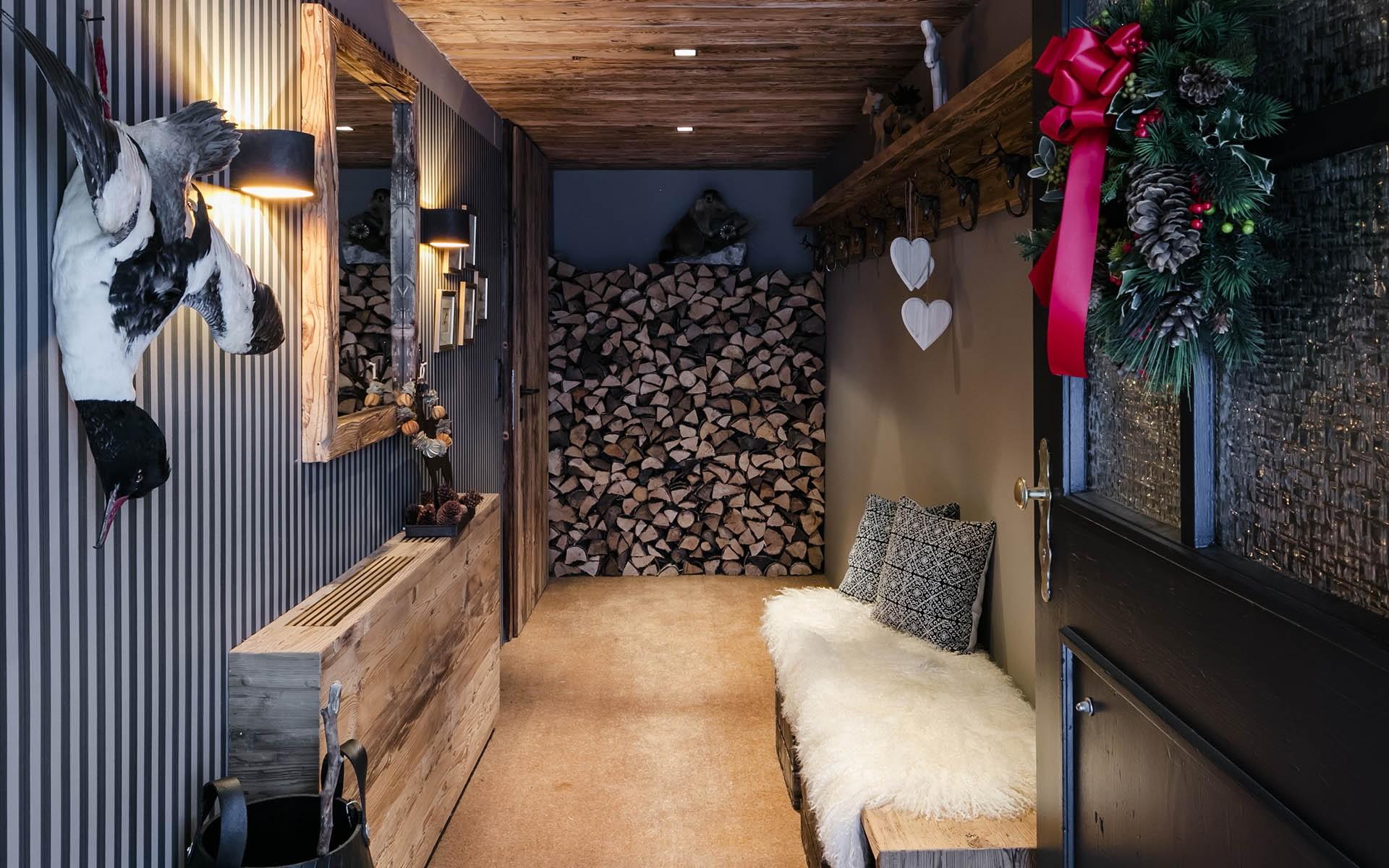 гостиная в стиле шале фото декора