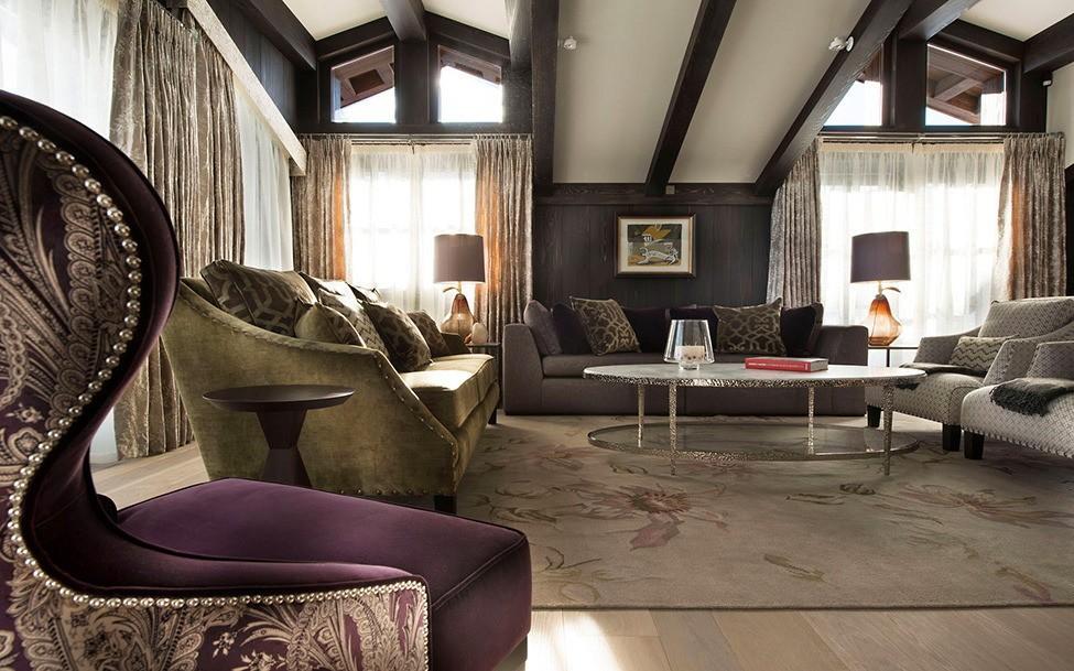 гостиная в стиле шале идеи дизайн