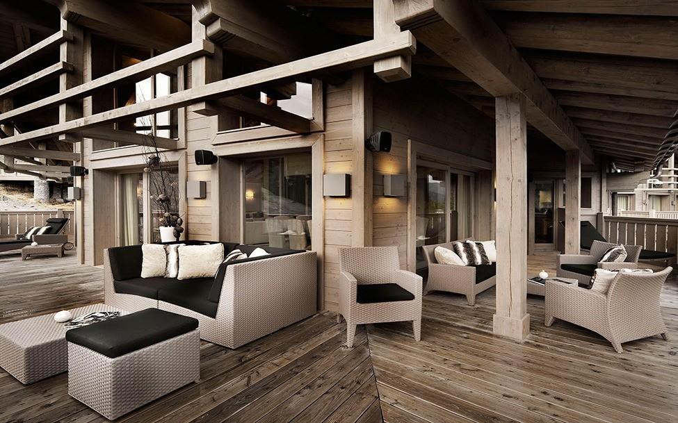 гостиная в стиле шале идеи дизайна