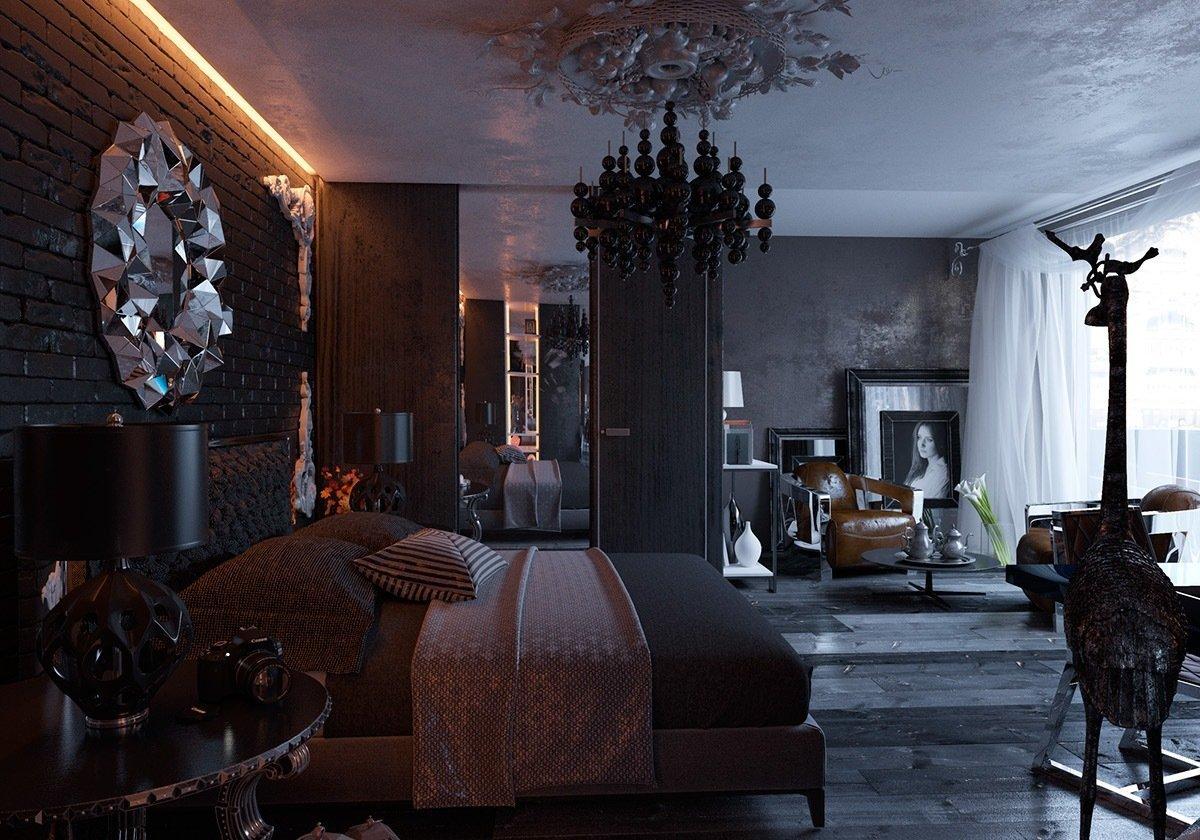 готическая спальня