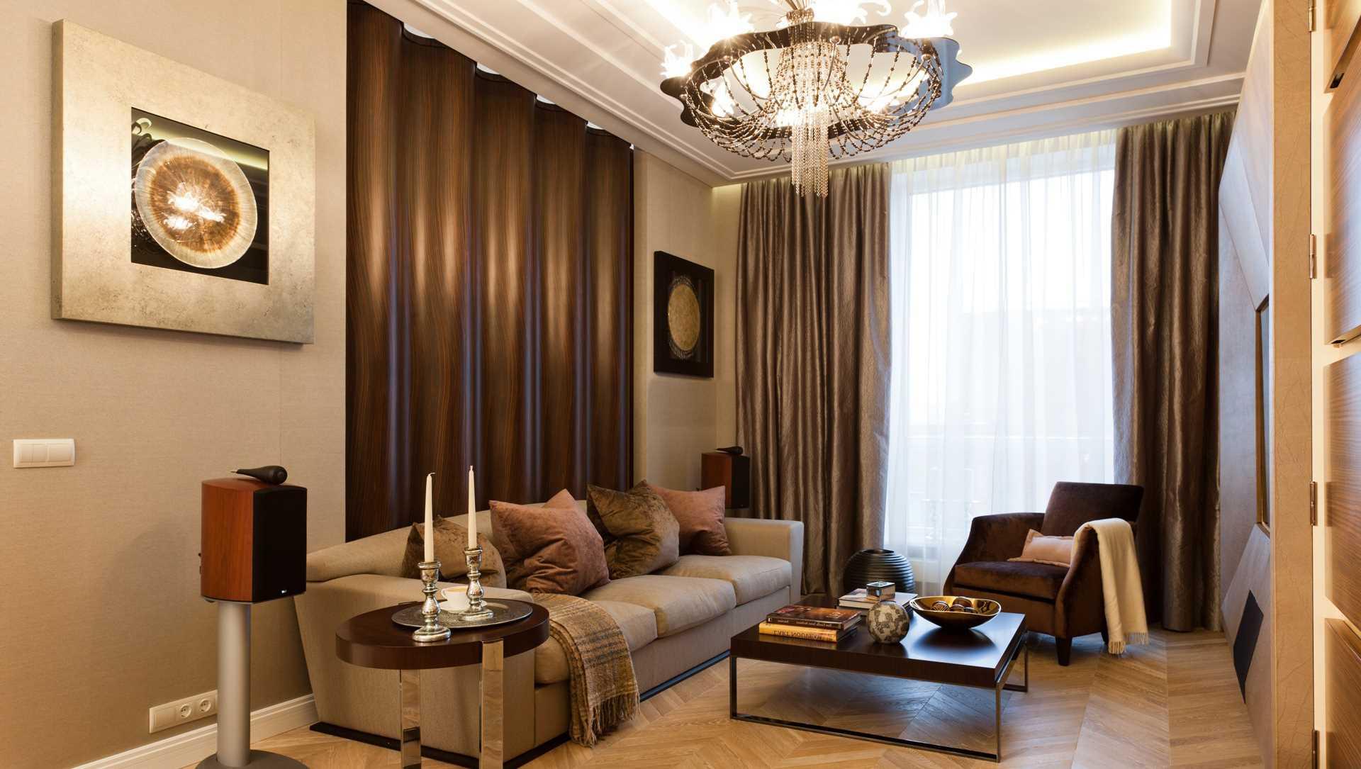 идея красивого декора гостиной