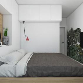 Светлая спальня в двухкомнатной квартире 60 кв метров