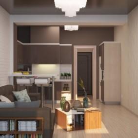 Дизайн квартиры-студии в панельном доме