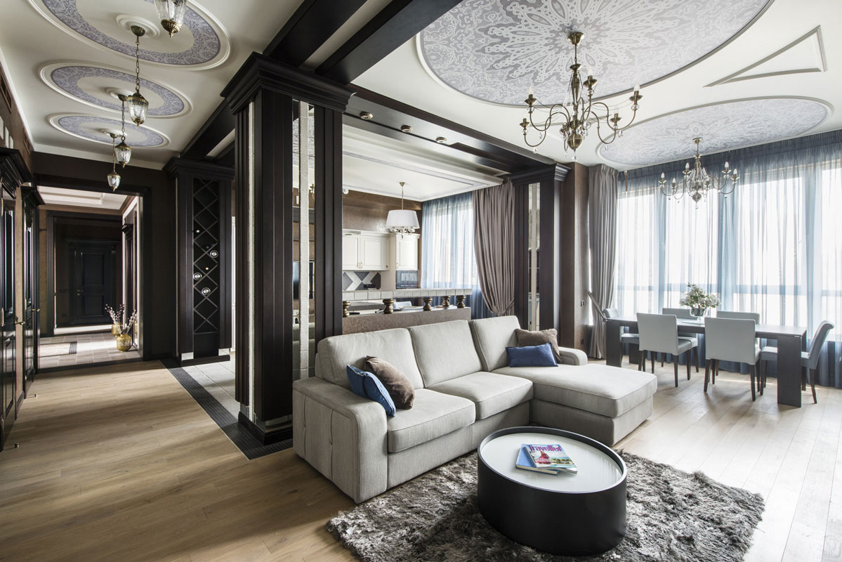 интерьер гостиной в классическом стиле идеи