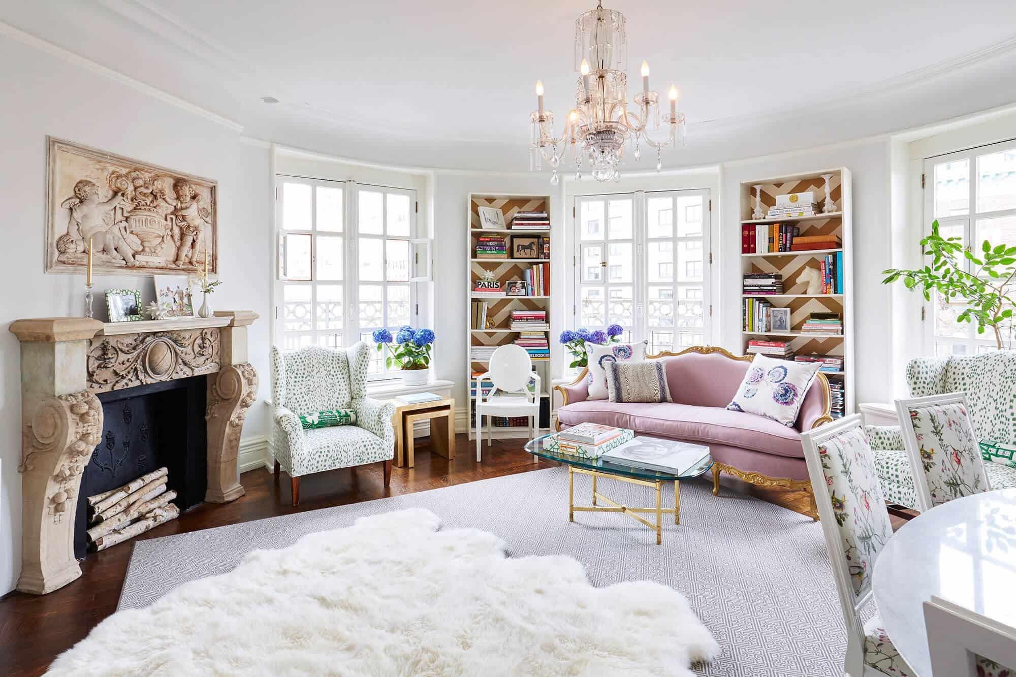 французский стиль гостиной