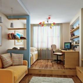 однокомнатная квартира для семьи с ребенком дизайн