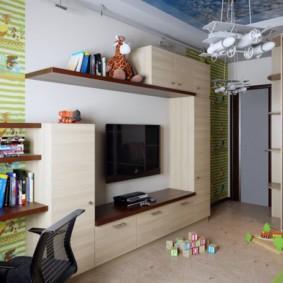однокомнатная квартира для семьи с ребенком дизайн фото
