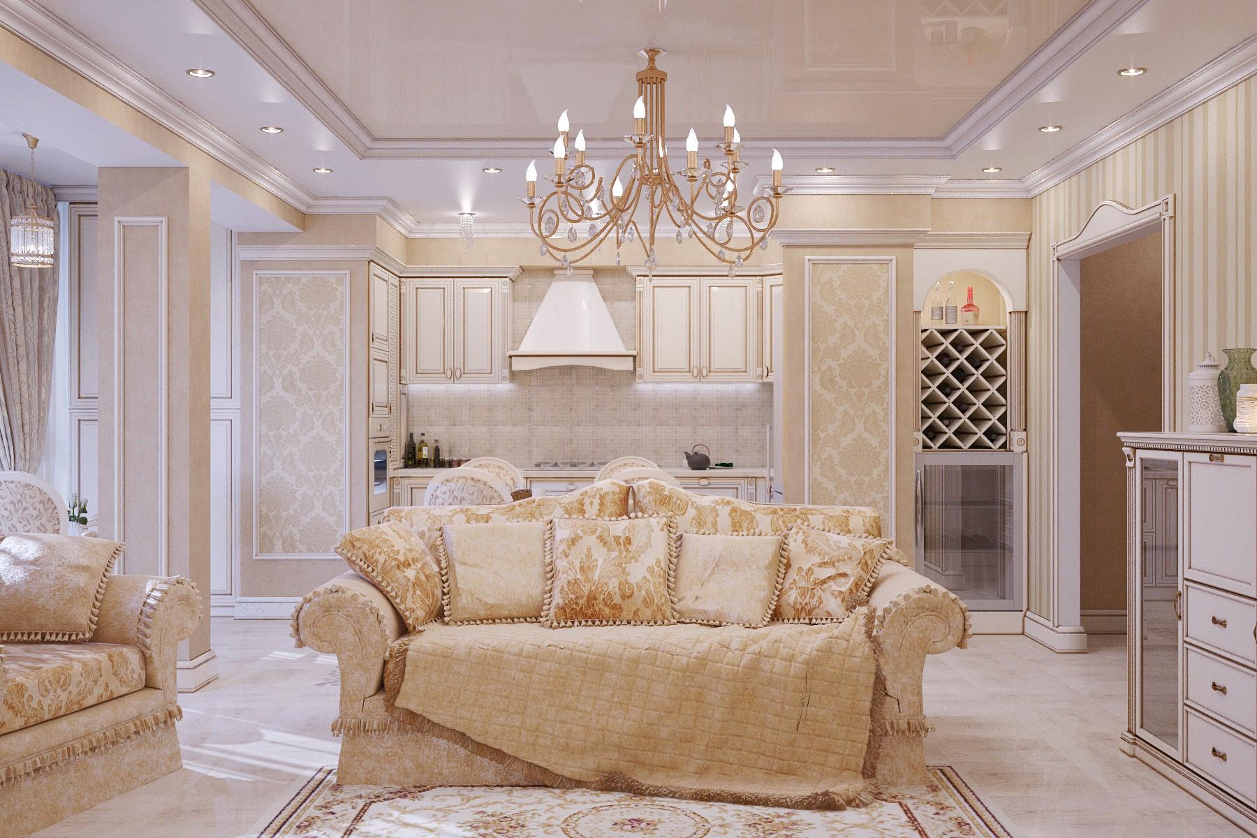 как создать интерьер гостиной в классическом стиле