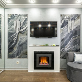 камин в интерьере квартиры идеи дизайн