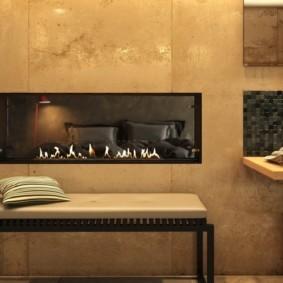 камин в интерьере квартиры фото декор