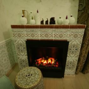 камин в интерьере квартиры идеи декора