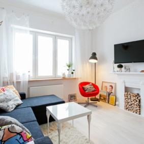камин в интерьере квартиры дизайн фото