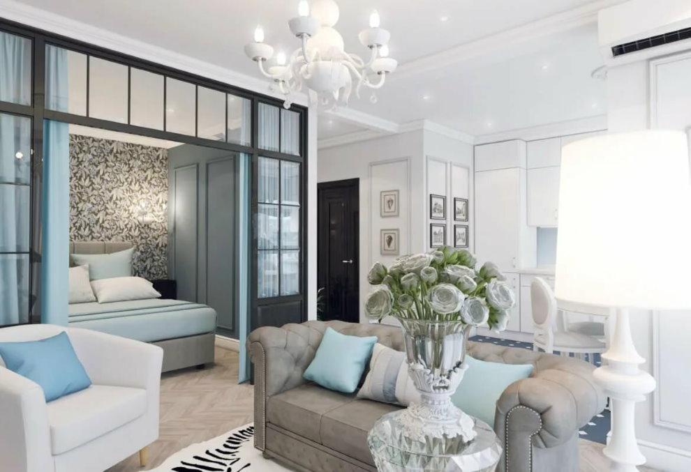 Классика в интерьере однокомнатной квартиры