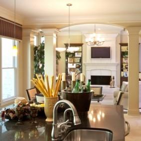 колонны в интерьере декор