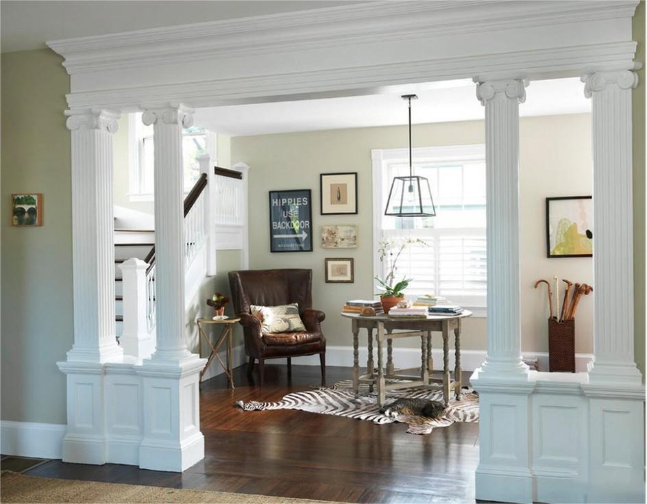 колонны в современном интерьере