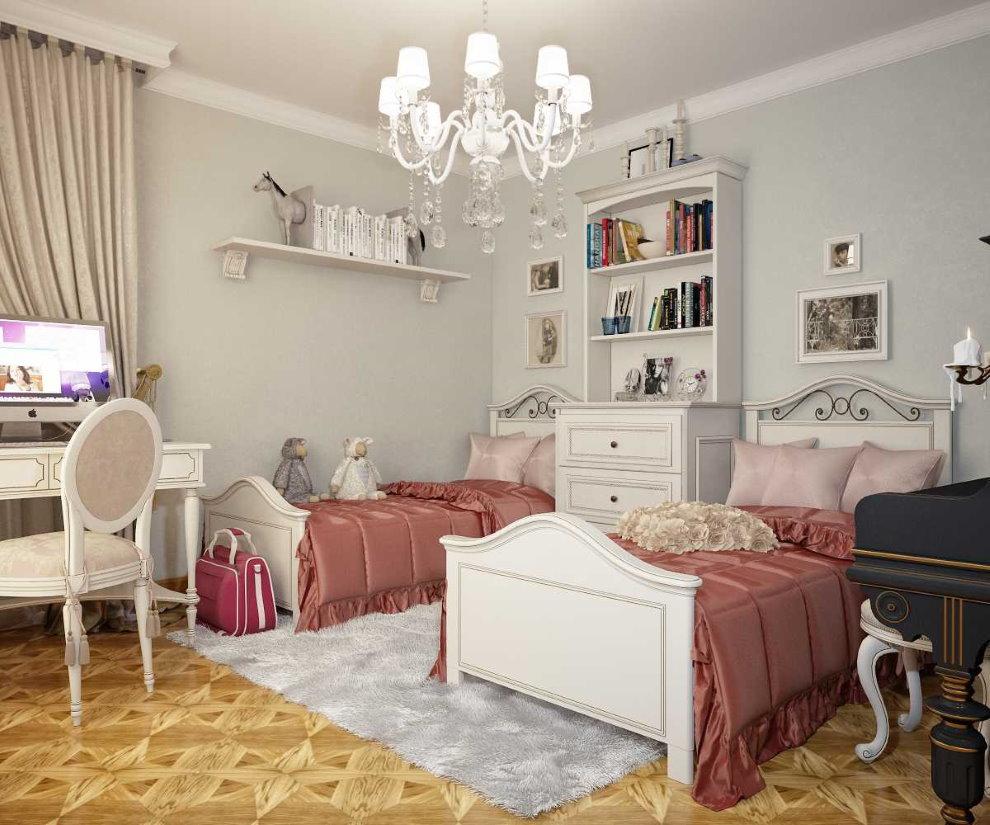 Две кровати в комнате для девочек