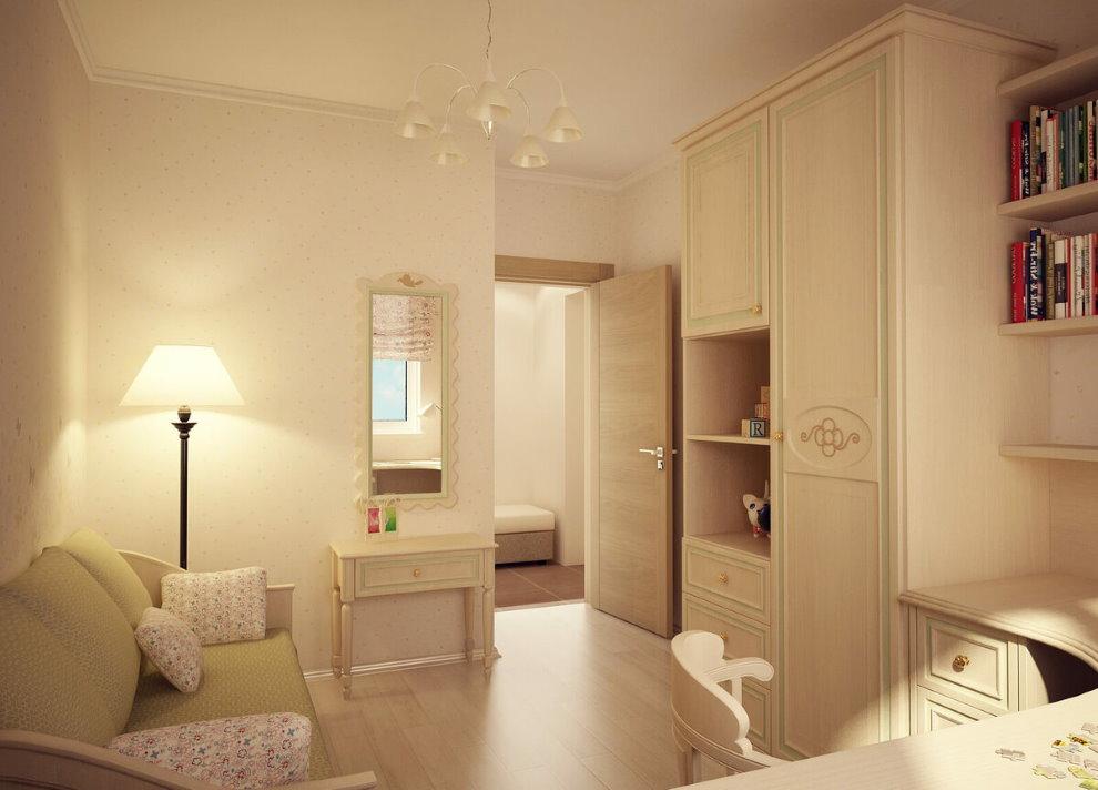 Светлая комната в квартире распашонке
