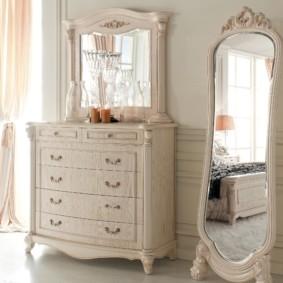 комод с зеркалом для спальни идеи фото