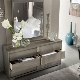 комод с зеркалом для спальни идеи дизайн