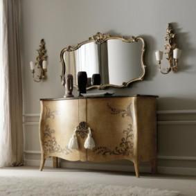 комод с зеркалом для спальни идеи дизайна