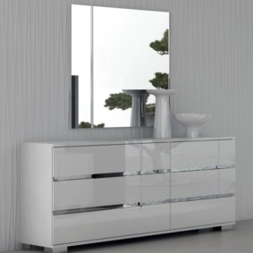 комод с зеркалом для спальни виды фото