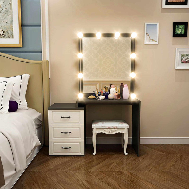 комод с зеркалом и подсветкой в спальню