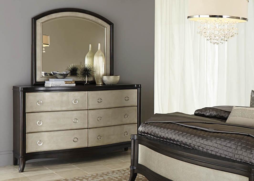 комод с зеркалом в спальню дизайн