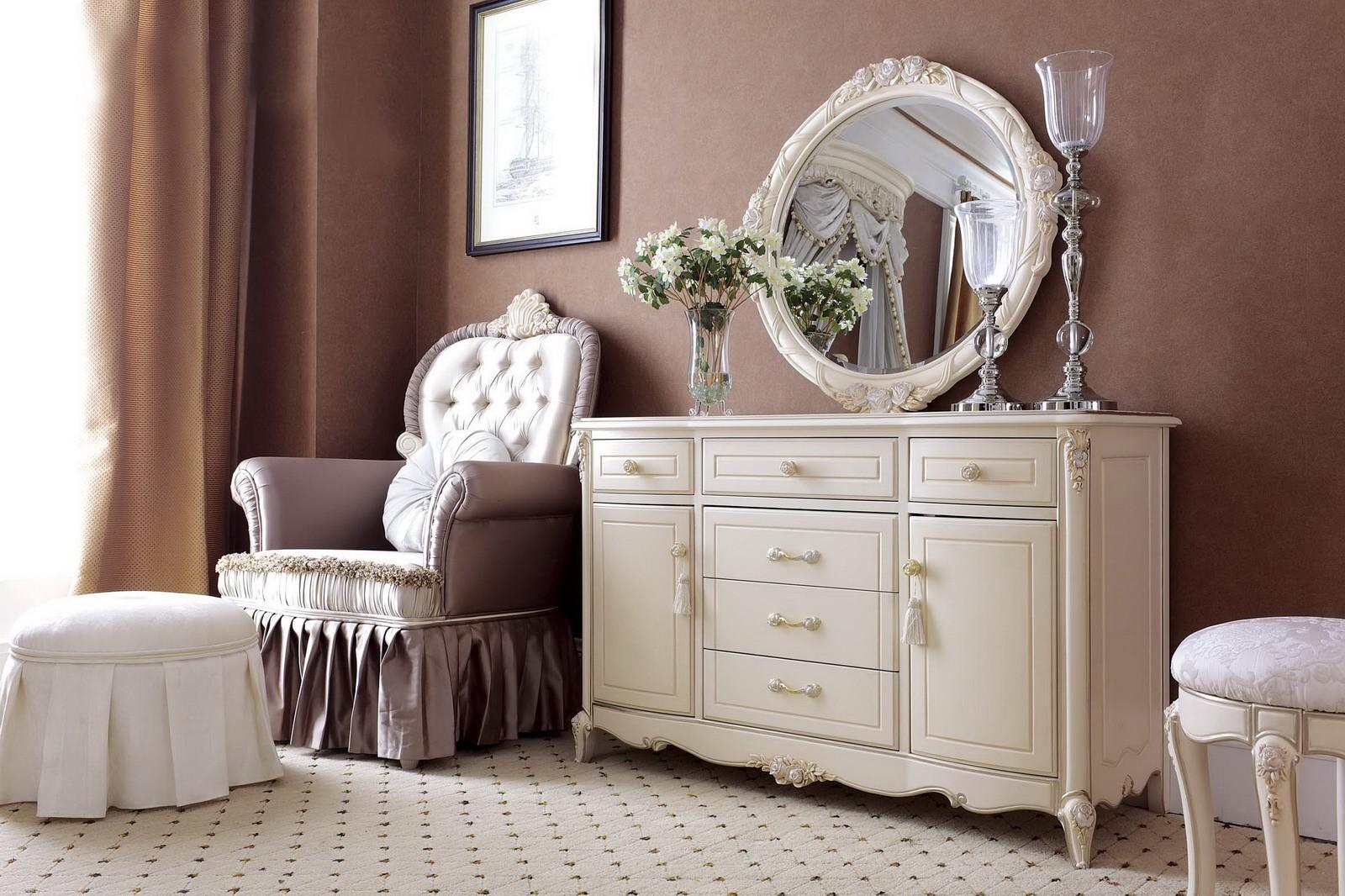 комод с зеркалом в спальню фото дизайна