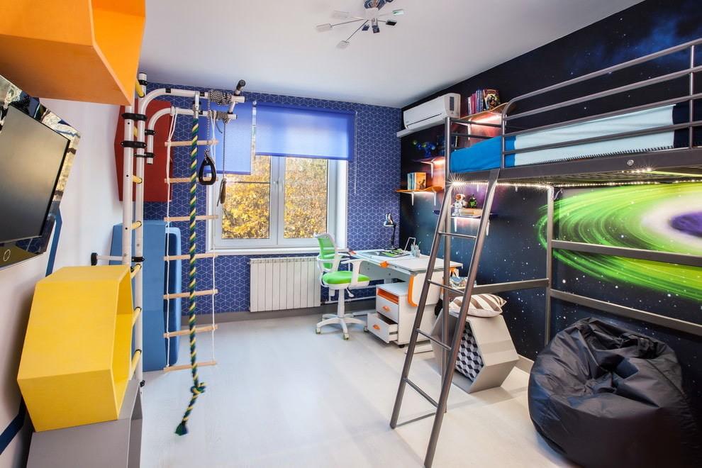 Фотообои на стене в детской комнате