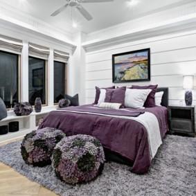 пушистый ковер в спальню