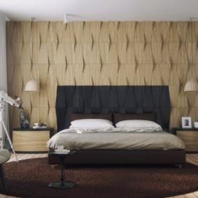 овальный ковер в спальню