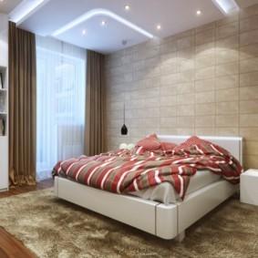 практичный ковер в спальню