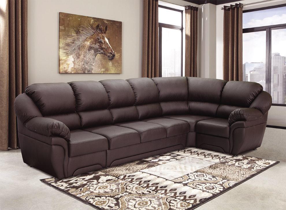 Кожаная обивка углового дивана