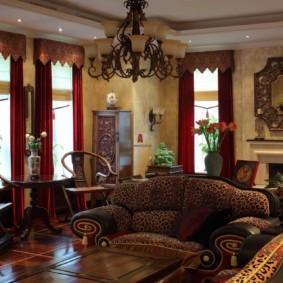 гостиная в восточном стиле оформление