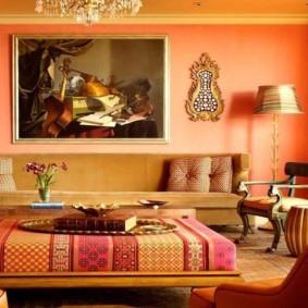 красивый дизайн гостиная в восточном стиле