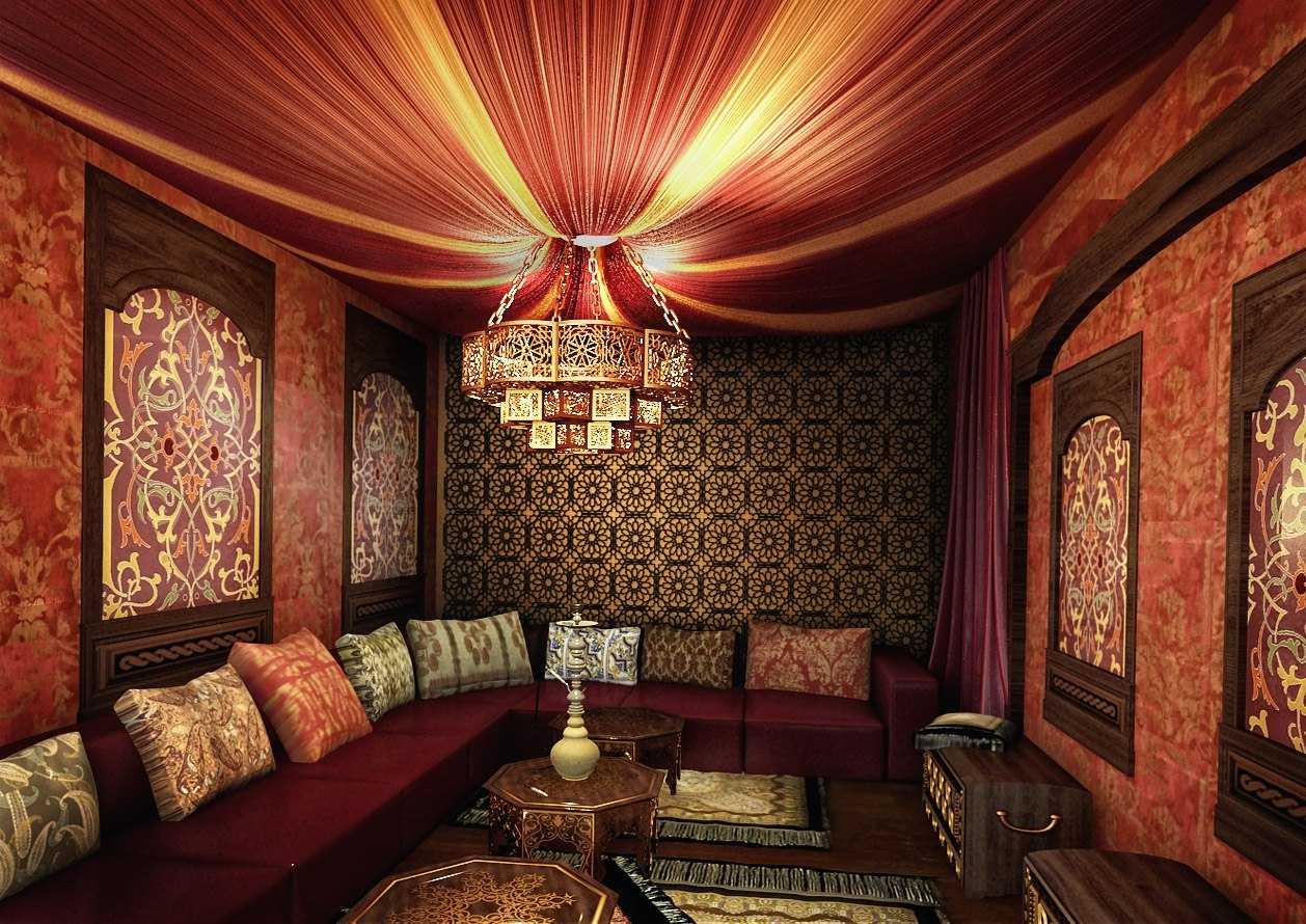 текстильное оформление в восточном стиле