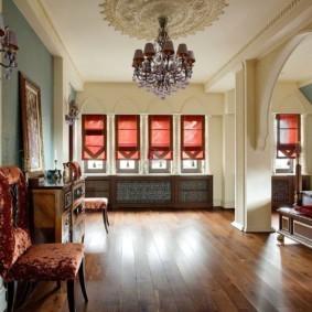 интерьер комнаты в восточном стиле фото