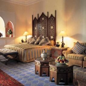 интерьер комнаты в восточном стиле фото идеи